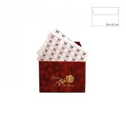 """Enveloppe - """"Cartes de Fleurs"""" et Étiquette Fleurs"""